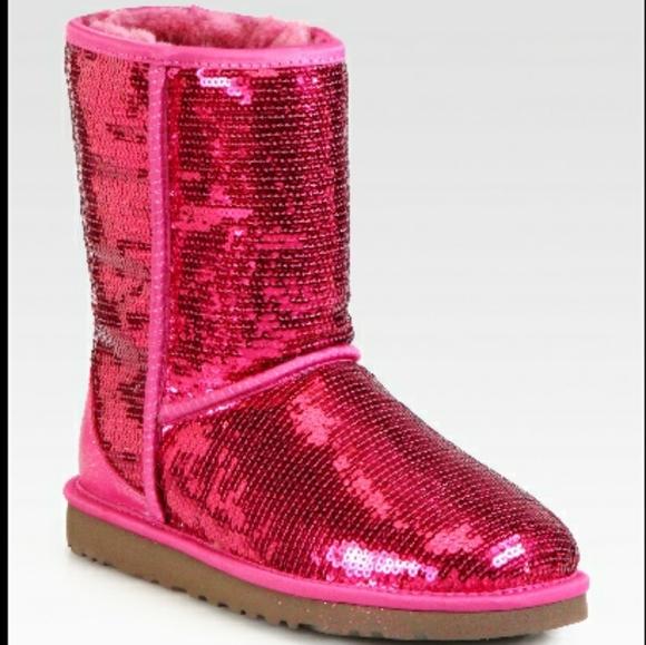 Hot Pink Sequin Ugg Boots   Poshmark